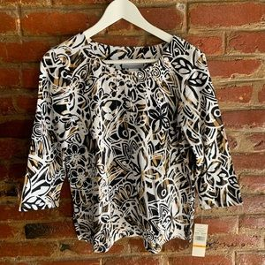 NEW Alfred Dunner Floral Petite Top